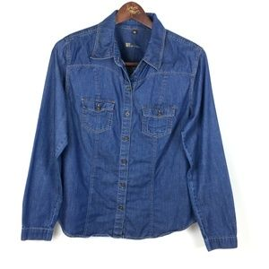 Kut From The Kloth Chambray Long Sleeve Size Med